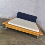 Ligne Roset Parallele Postmodern European King Size Platform Bed Attributed to Peter Maly