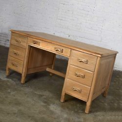 Vintage Ranch Oak Desk with Honey Oak Finish by A. Brandt Company