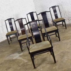 Chin Hua Dining Chairs Set Six 4 Side & 2 Armchairs by Raymond K. Sobota for Century Furniture