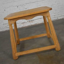 Larger Ranch Oak Lamp Table End Table with Natural Oak Finish by A. Brandt Company