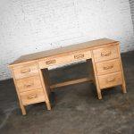 Vintage Ranch Oak Desk with Honey Oak Finish by A. Brandt Company