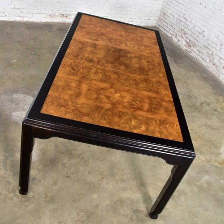 Vintage Chinoiserie Hollywood Regency Chin Hua Dining Table by Raymond K. Sobota for Century Furniture