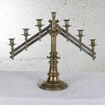 Vintage Brass Adjustable Traditional Menorah or Candelabra