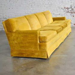 MCM Lawson Style 4 Cushion Gold Velvet Sofa Park Slope Collection Abraham & Straus
