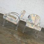 Modern Lucite Waterfall Side Chairs Attributed to Leon Rosen for The Pace Collection