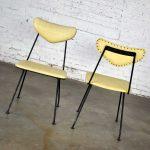 Mid-Century Modern Salterini Pair Neva-Rust Patio Dining Chairs