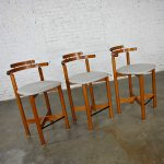 HOLD-Gangso Mobler Scandinavian Modern Teak Counter Height Barstools Set of 3