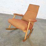 Mid-Century Modern High Back Rocker Rocking Chair