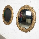 Art Deco Gilded Resin Mirrors Anthemion Foliate Design a Pair Style of Serge Roche
