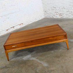 Mid-Century Modern Lane Rhythm Collection Walnut Rectangular Coffee Table