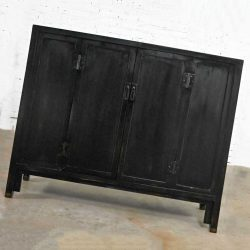 Baker Milling Road Collection Ebonized Han Style Bar Cabinet or Tall Console