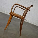 Vintage Bauhaus Oak Bentwood & Cane Josef Hoffman Prague 811 Armchair for Stendig by Thonet