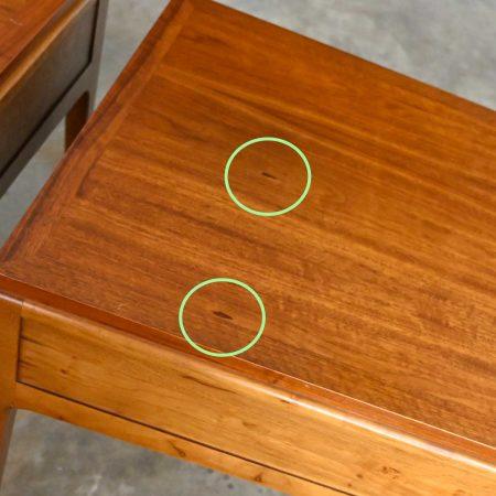 Mid-Century Modern Lane Rhythm Collection Walnut End Tables a Pair