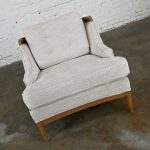 Vintage Lounge Club Chair Attributed to Erwin Lambeth's Sophisticate with Italian Fabric by Osborne Little