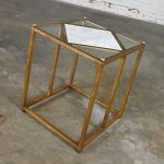 Chelsea House Jamie Merida Collection Iron Antique Gold Leaf Harlequin Side Table