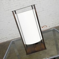 Metal Table Lamp with Floating Shade Attributed to Holly Hunt Lanternes II Collection