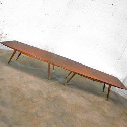 Mid-Century Modern Stow & Davis Walnut 2 Piece Conference Table by Giacomo Buzzitta