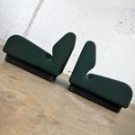 Modern Herman Miller Don Chadwick Modular Seating Forest Green Pair of Chairs