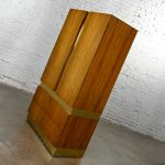 Vintage Modern Rosewood & Brass Plate Wardrobe or Chifforobe by Milo Baughman Thayer Coggin