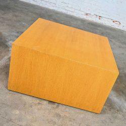 Intrex Furniture Wood Veneer Cube End or Side Table Pedestal Attributed to Paul Mayen