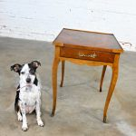 Vintage Baker French Louis XV Style End Table with Brass Ormalu Details