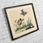 Vintage Vittorio Raineri Authentic Signed Watercolor Painting of Exotic Birds Dated 1836