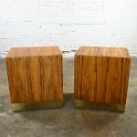 Vintage Modern Rosewood Pair of Cube Nightstands by Milo Baughman for Thayer Coggin