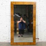 Vintage Modern Rosewood Large Mirror by Milo Baughman for Thayer Coggin