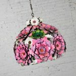 Flower Power Mod Mid Century Modern Dome Hanging Light or Swag Lamp