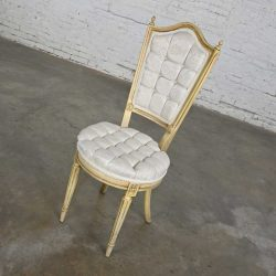 Hollywood Regency Louis XVI Style Antique White Dressing or Accent Chair Attributed to Prince Howard