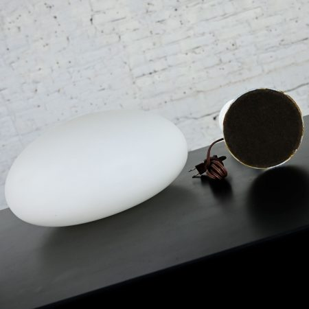 Vintage MCM Table Lamp with Frosted White Glass Mushroom Shade by Laurel Lamp Company