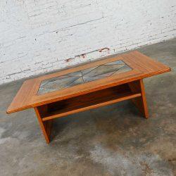 Scandinavian Modern Teak Coffee Table with Tile Insert by Poul H. Poulsen for Gangso Mobler