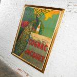 Antique Art Deco Art Nuovo Cognac Jacquet Advertising Peacock Poster by Camille Bouchet