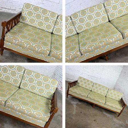 Vintage Mediterranean Spanish Revival Style Sofa by American of Martinsville