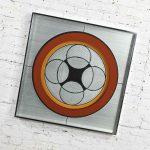 Vintage Modern Mod Op Art or Pop Art Mirror by Greg Copeland Style #1034
