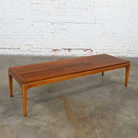 Mid-Century Modern Lane Rhythm Collection Long Narrow Rectangular Walnut Coffee Table